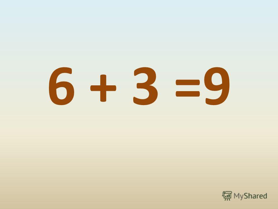 6 + 3 =9