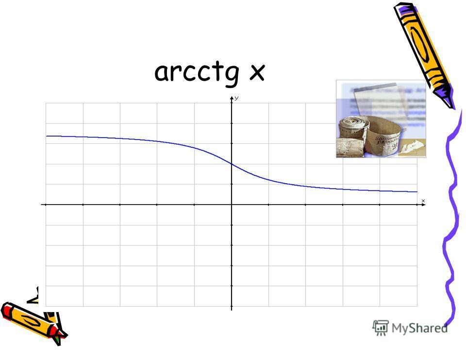 arcctg x