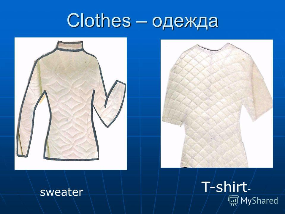 Сlothes – одежда sweater T-shirt -