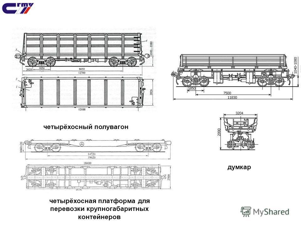 четырёхосный полувагон четырёхосная платформа для перевозки крупногабаритных контейнеров думкар