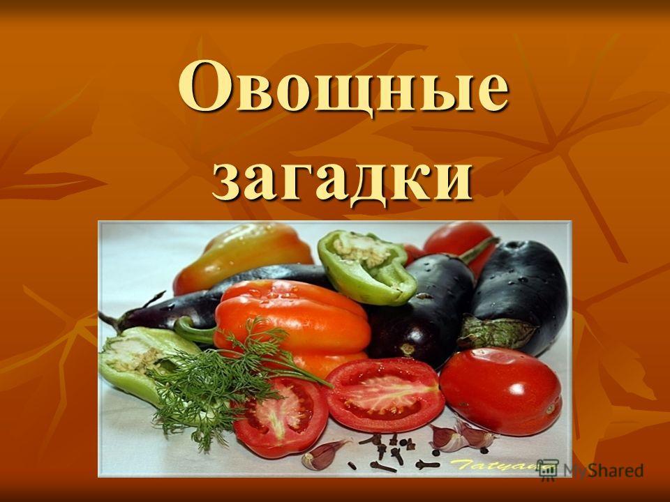 Овощные загадки