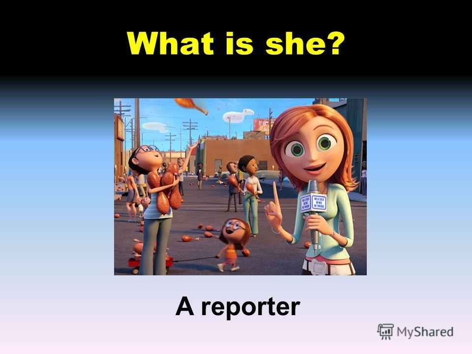 What is she? A reporter