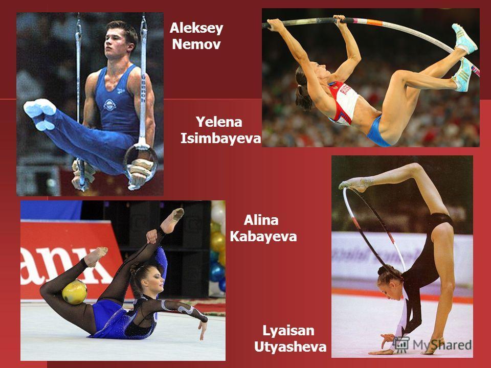 12 Lyaisan Utyasheva Alina Kabayeva Aleksey Nemov Yelena Isimbayeva
