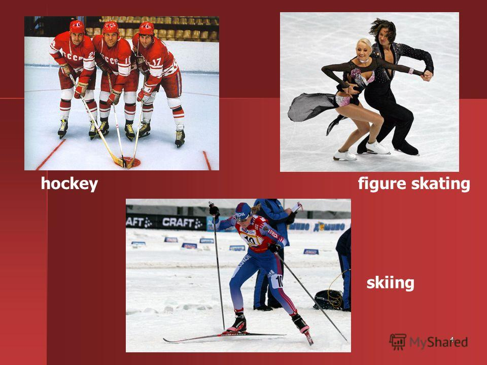 4 hockeyfigure skating skiing