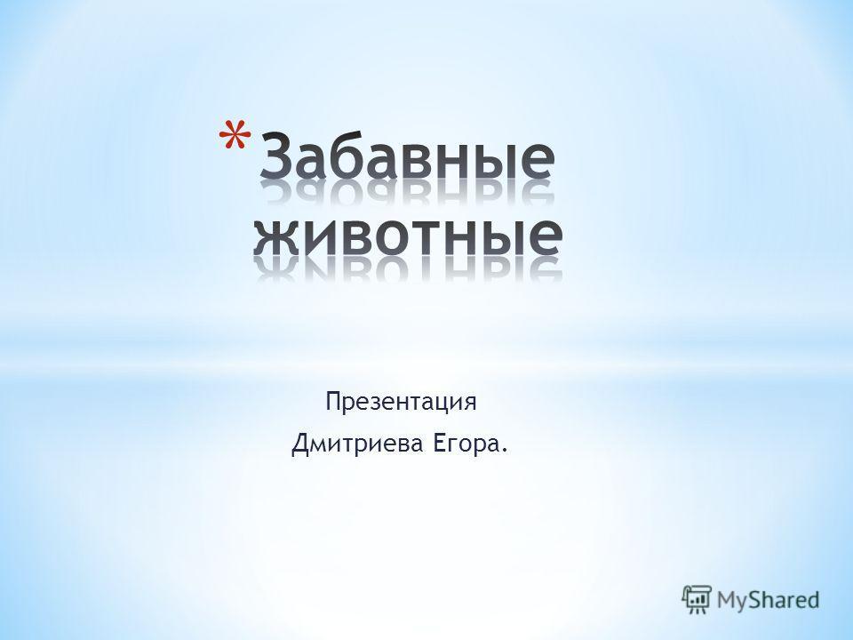 Презентация Дмитриева Егора.