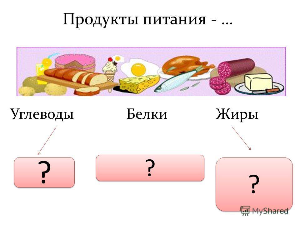 15 Продукты питания - … Углеводы Белки Жиры ГлюкозаАминокислотыГлицерин, Жирные кислоты ? ? ? ? ? ?