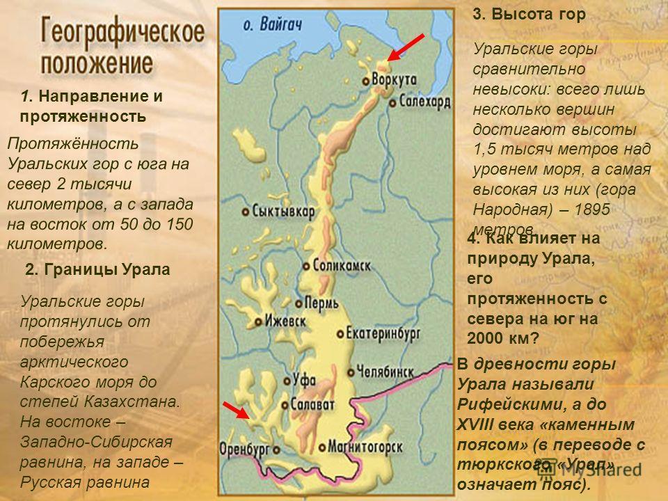 Презентация на тему Урал каменный пояс Земли Русской Нехаева Е  5 урал Протяжённость