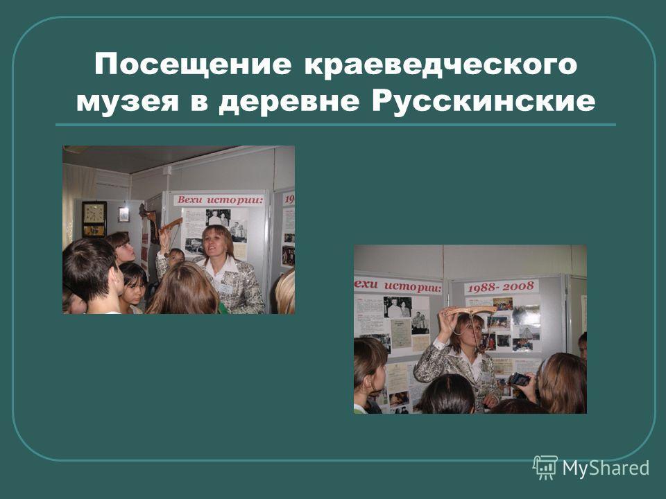 Посещение краеведческого музея в деревне Русскинские