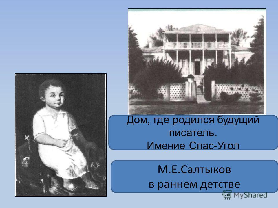 Дом, где родился будущий писатель. Имение Спас-Угол М.Е.Салтыков в раннем детстве