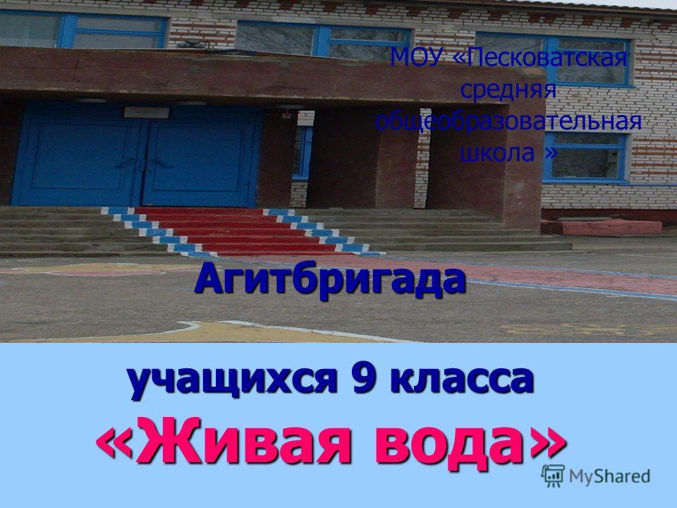 Агитбригада учащихся 9 класса «Живая вода» МОУ «Песковатская средняя общеобразовательная школа »