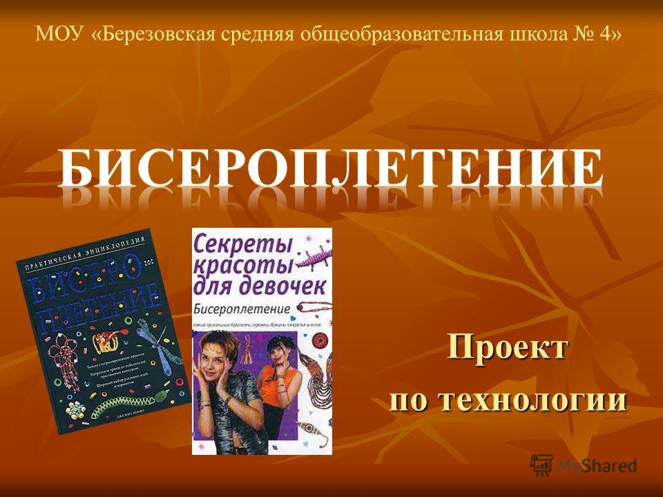 Проект по технологии МОУ «Березовская средняя общеобразовательная школа 4»