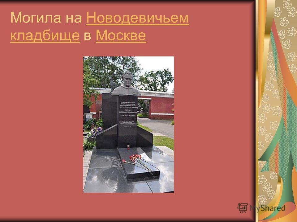 Могила на Новодевичьем кладбище в МосквеНоводевичьем кладбищеМоскве