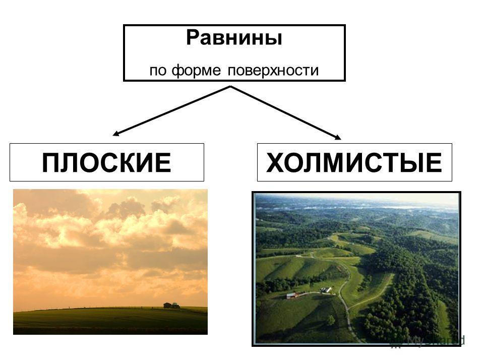ПЛОСКИЕХОЛМИСТЫЕ Равнины по форме поверхности