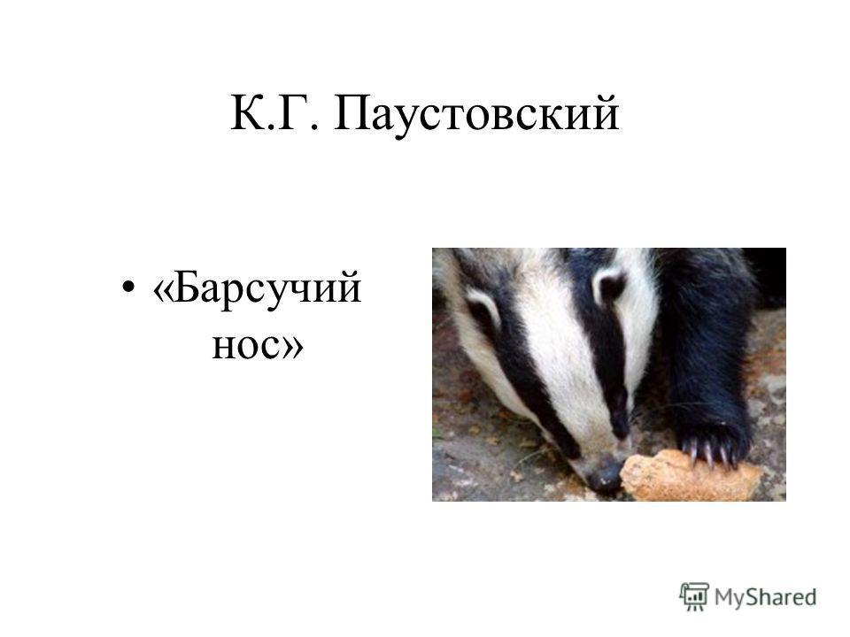 К.Г. Паустовский «Барсучий нос»