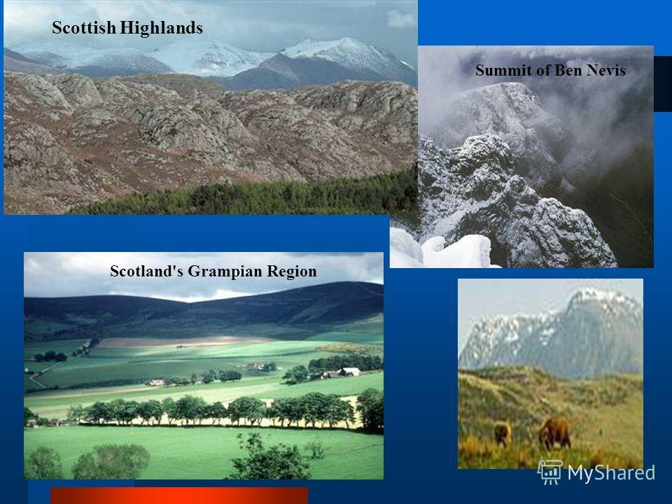 Scottish Highlands Summit of Ben Nevis Scotland's Grampian Region