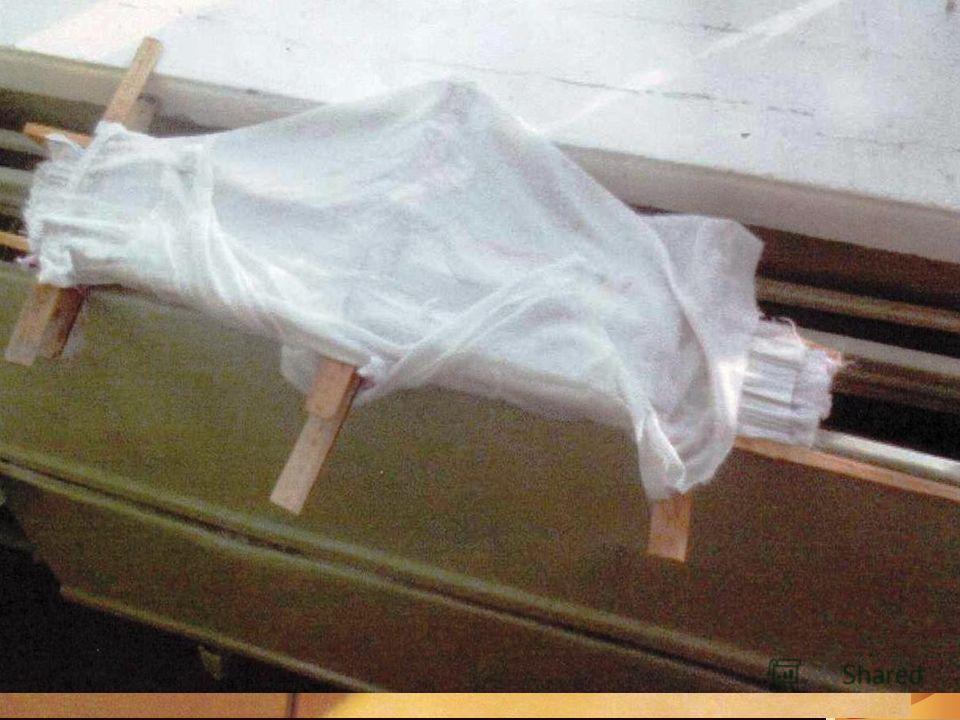 Затем производим пропитку раствором при помощи пропаривания утюгом После этого нужно просушить на батарее или в сушильном шкафу в течении 24 часов По истечению срока сушки, вынимаем ткань из формы и подравниваем верхние и нижние срезы., далее идёт их