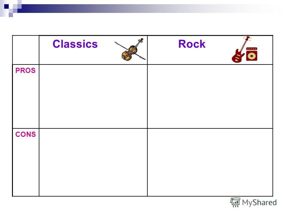 Classics Rock PROS CONS