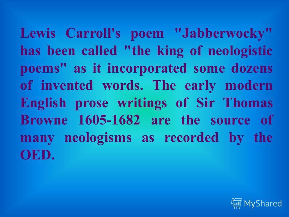 Lewis Carroll's poem