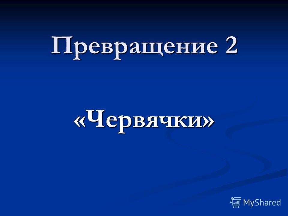 Превращение 2 «Червячки»