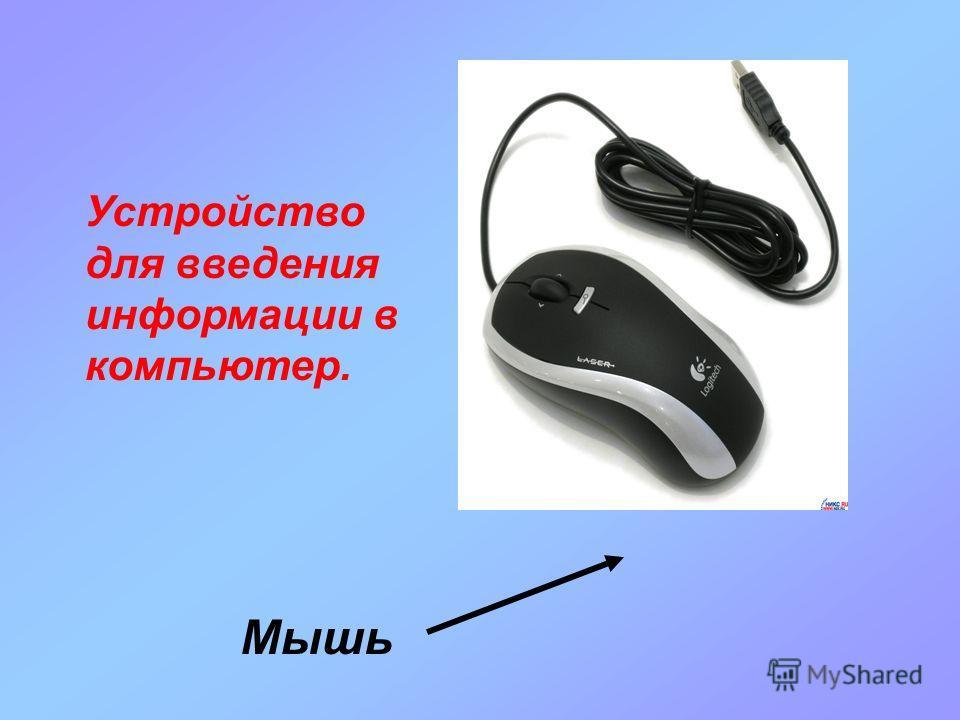 Мышь Устройство для введения информации в компьютер.