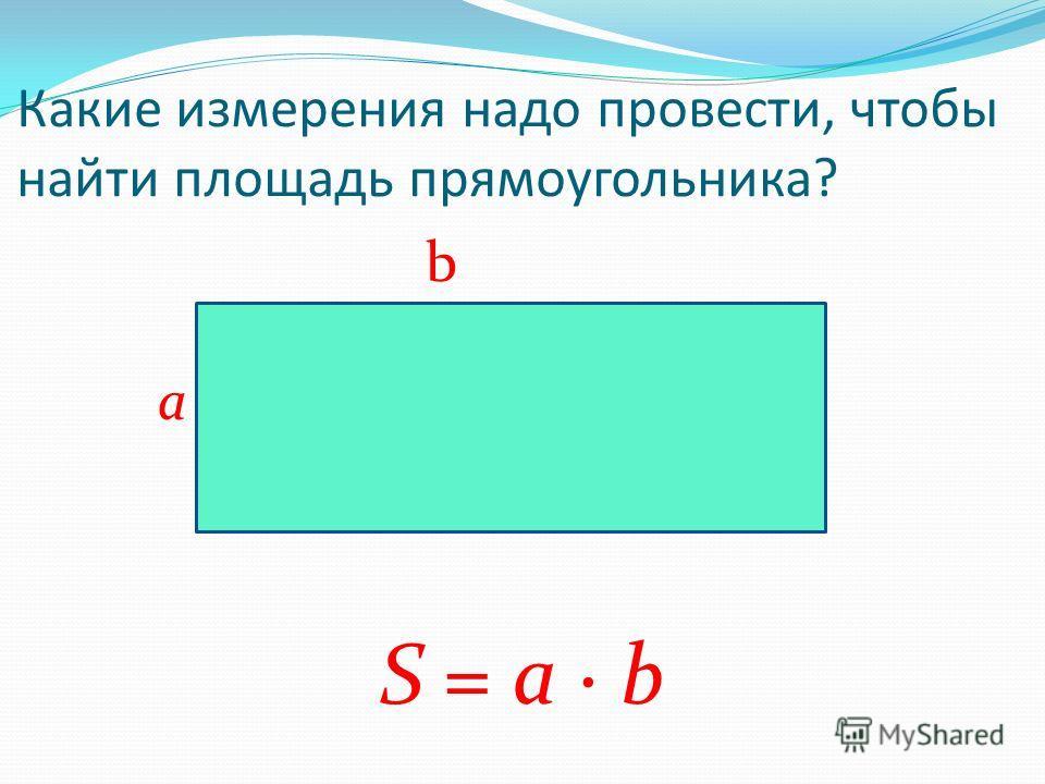 Свойства площадей: 3. Площадь квадрата равна квадрату его стороны: a S = а 2 a