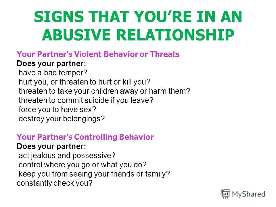 signs your abusive relationship