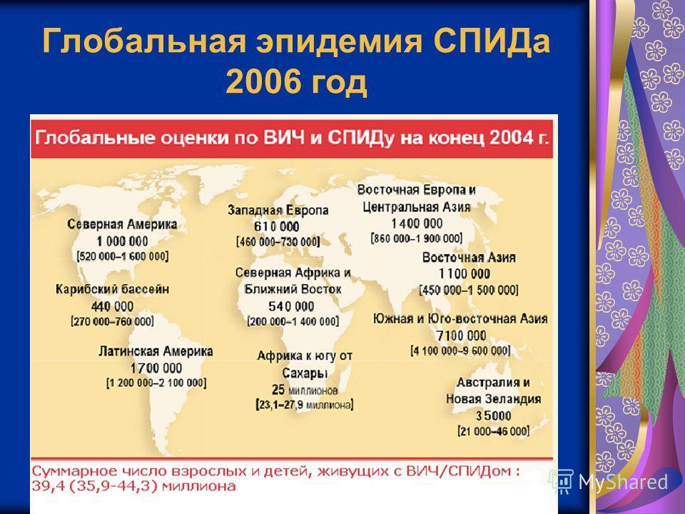 Глобальная эпидемия СПИДа 2006 год