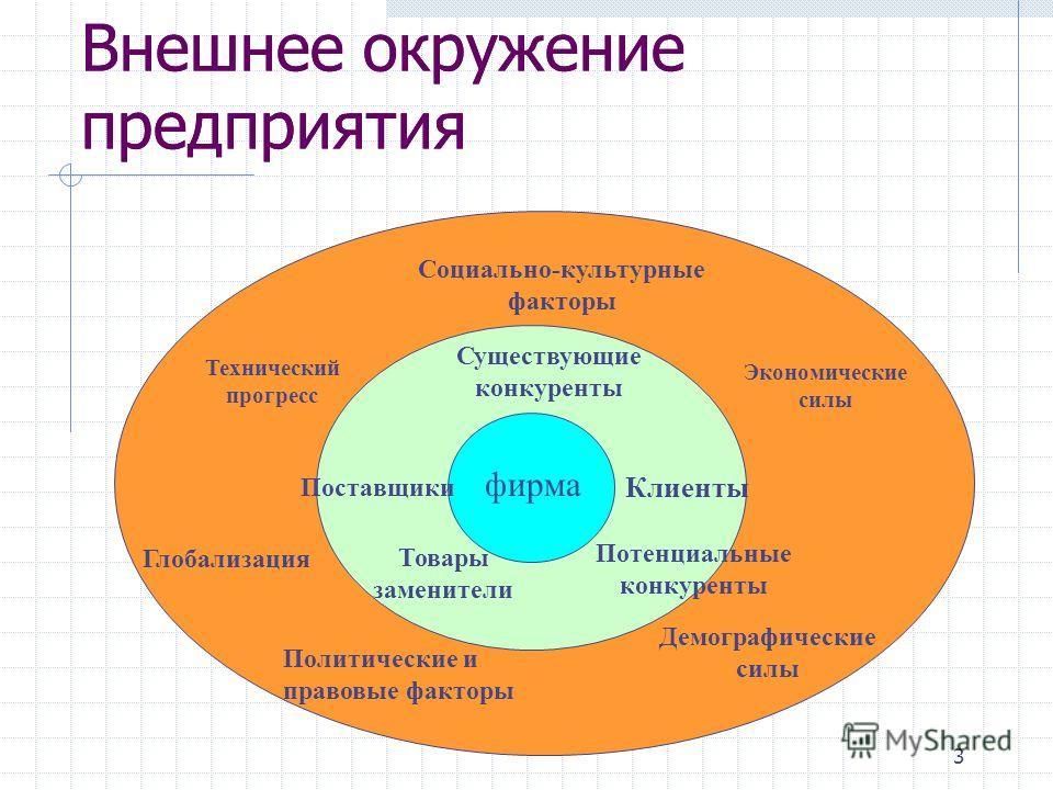 дайте определение внешнего окружения организации всей