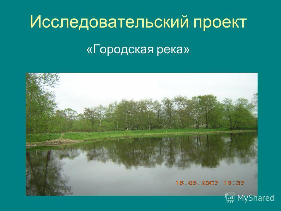 Исследовательский проект «Городская река»