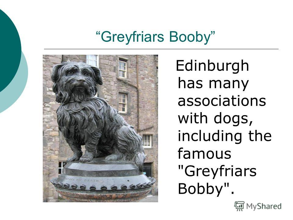 Greyfriars Booby Edinburgh has many associations with dogs, including the famous Greyfriars Bobby.