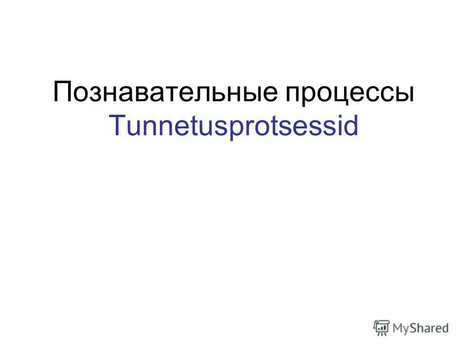Познавательные процессы Tunnetusprotsessid