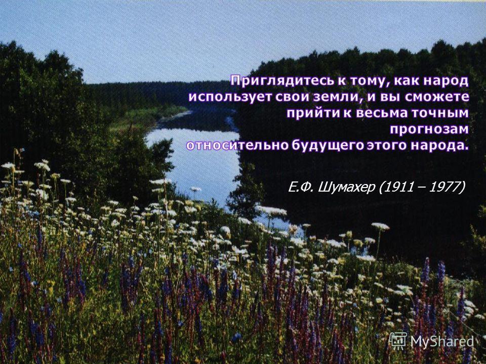 Е.Ф. Шумахер (1911 – 1977)