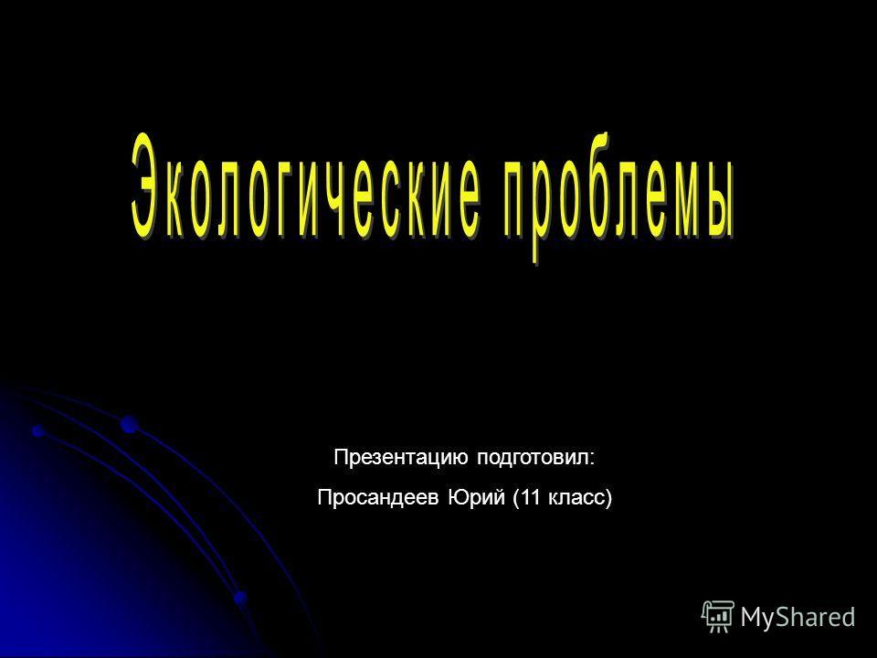 Презентацию подготовил: Просандеев Юрий (11 класс)