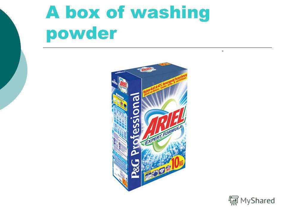 A box of washing powder