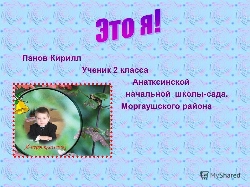 Панов Кирилл Ученик 2 класса Анатксинской начальной школы-сада. Моргаушского района
