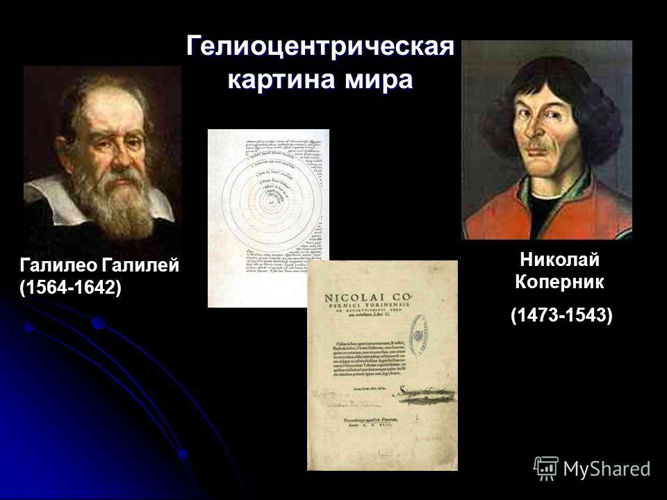 Николай Коперник (1473-1543) Гелиоцентрическая картина мира Галилео Галилей (1564-1642)