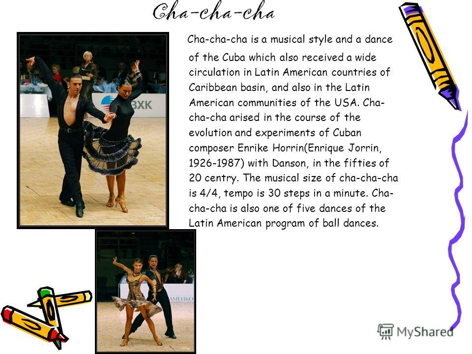 Salsa braga: hist0f3ria do cha cha cha - the world of salsa online