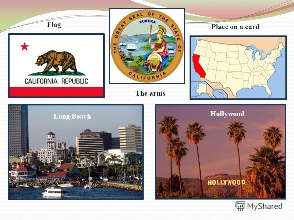Long Beach Hollywood Flag The arms Place on a card
