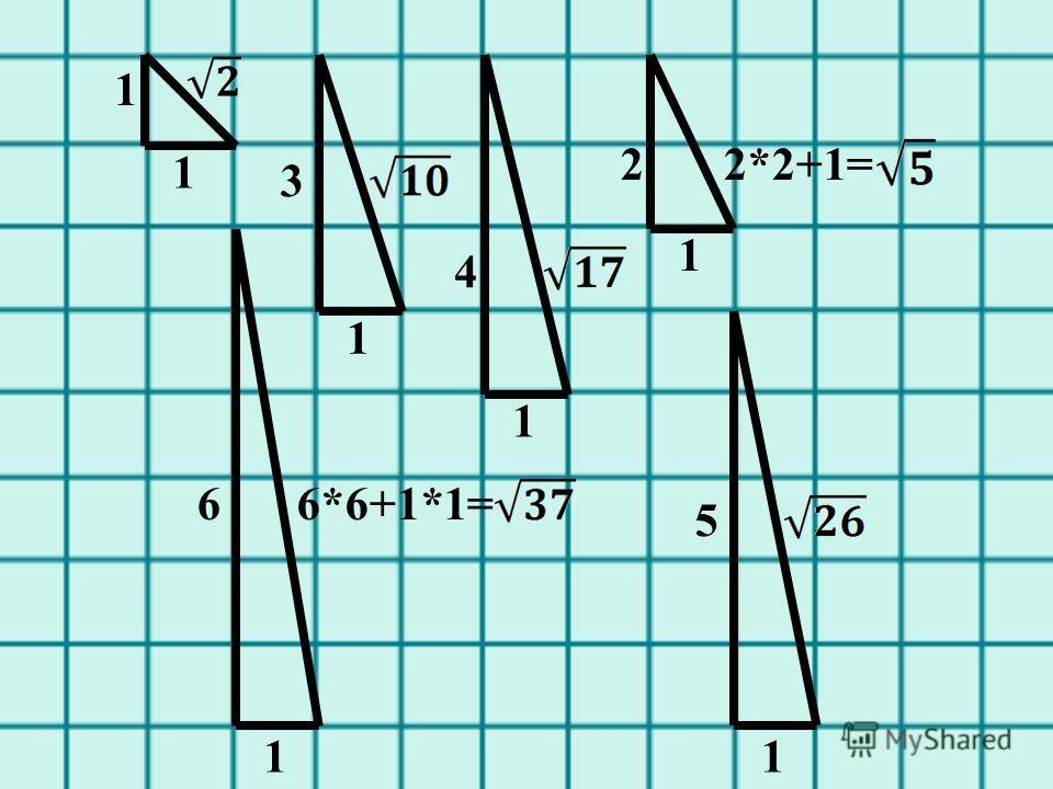 1 1 6*6+1*1=6 1 5 1 4 3 2*2+1=2 1 1 1