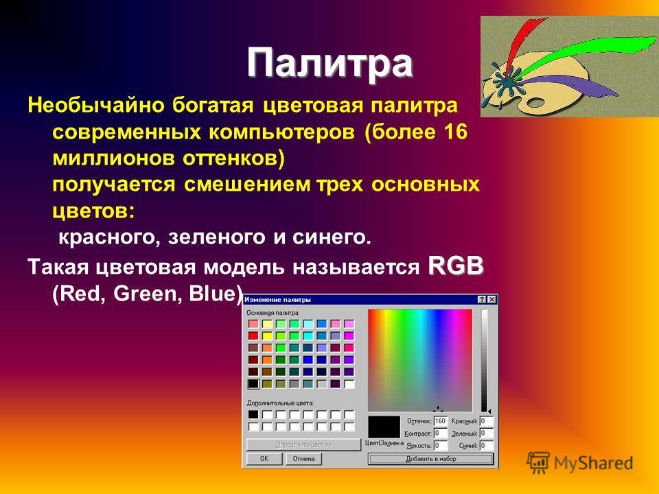 Растровые изображения Совокупность точек разного цвета