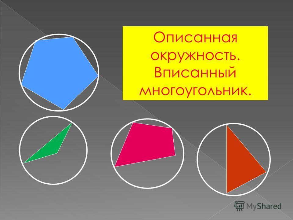 Описанная окружность. Вписанный многоугольник.