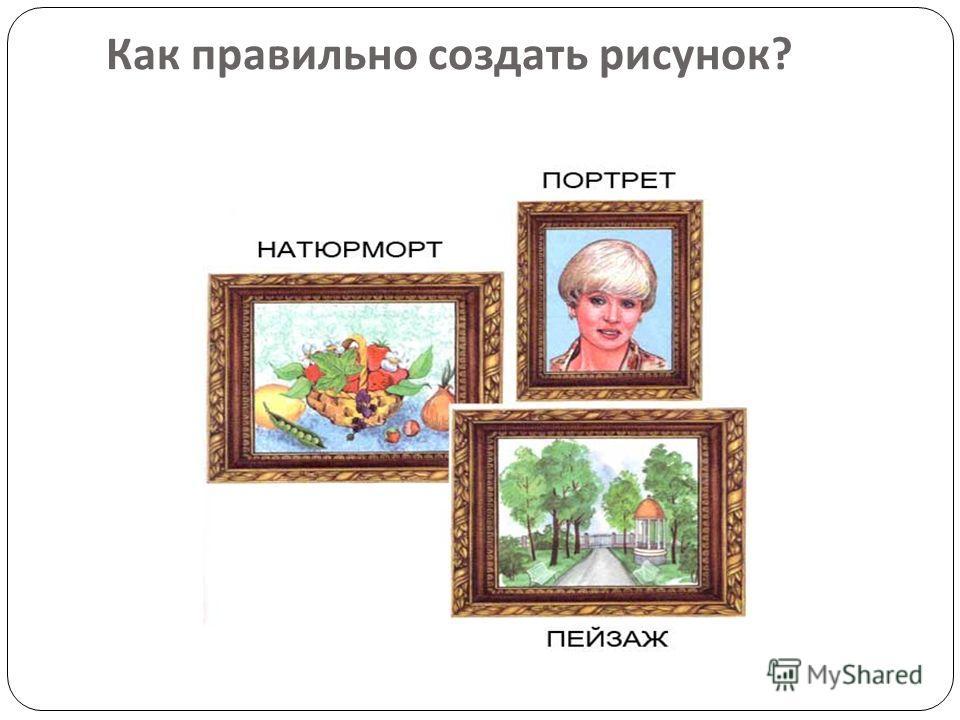 Как правильно создать рисунок ?