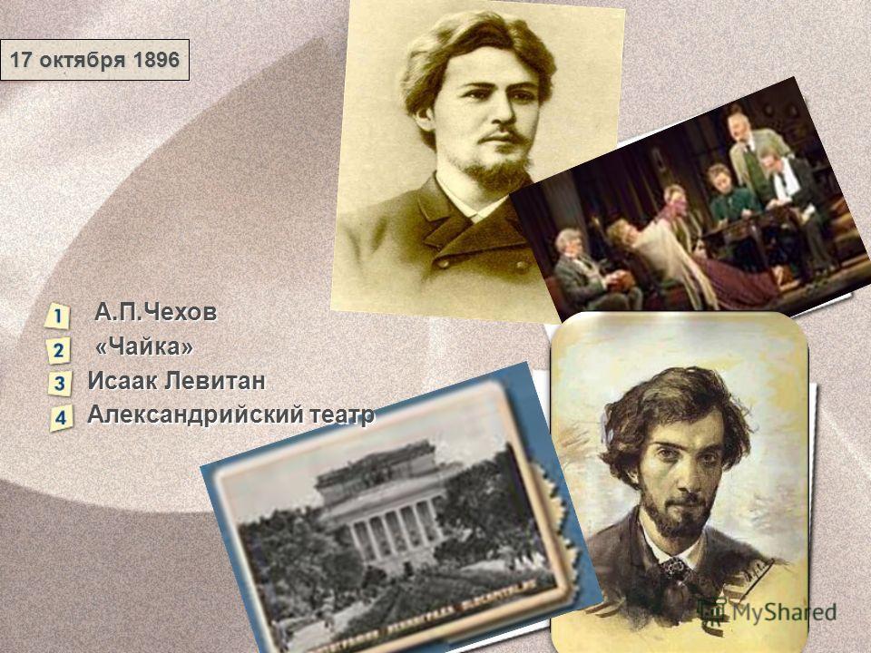 А.П.Чехов «Чайка» Исаак Левитан Александрийский театр 17 октября 1896