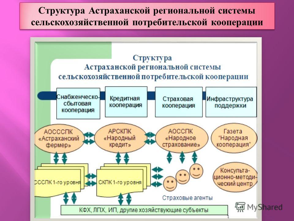 Структура Астраханской региональной системы сельскохозяйственной потребительской кооперации