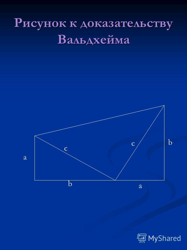 Рисунок к доказательству Вальдхейма a b a b c c