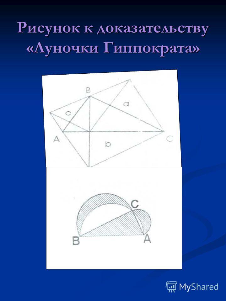 Рисунок к доказательству «Луночки Гиппократа»