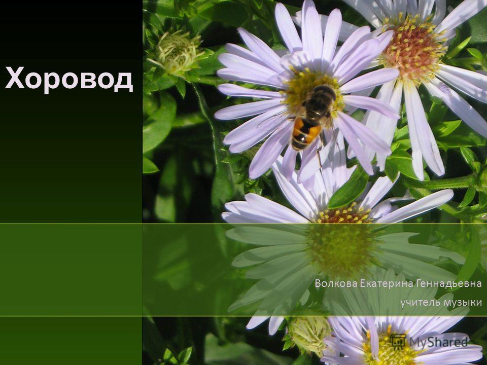 Хоровод Волкова Екатерина Геннадьевна учитель музыки