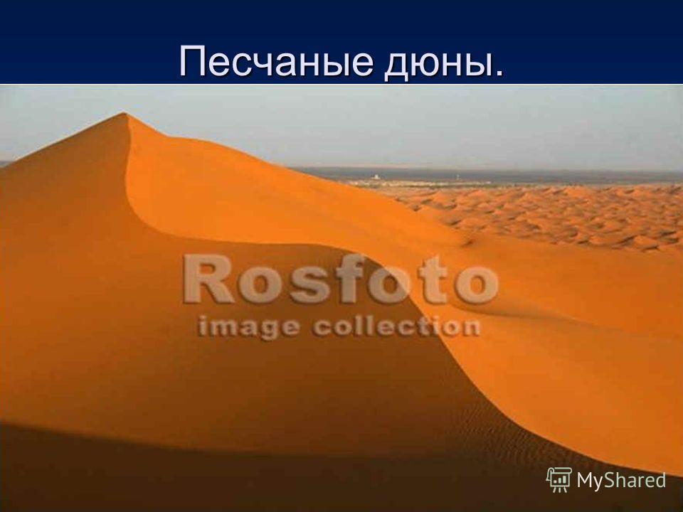 Песчаные дюны.