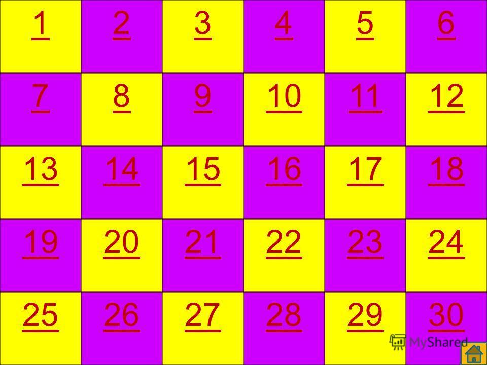 Стартовым является слайд 4, где находятся номера вопросов. Вопросы открываются через гиперссылку. Переход на игровое поле (слайд 4) осуществляется через значок. Для получения подтверждения о правильности или ошибочности ответа на «желтые» вопросы нео