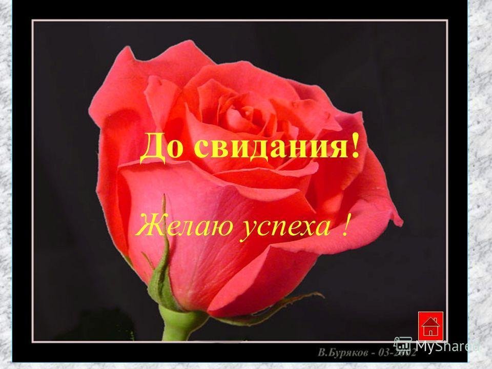 До свидания! Желаю успеха !
